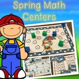 Kindergarten Spring Math Centers - 7 Spring Math Stations