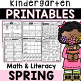 Kindergarten Spring Math & Literacy Worksheets: 80+ Pages