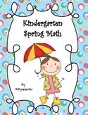 Kindergarten Spring Math Practice