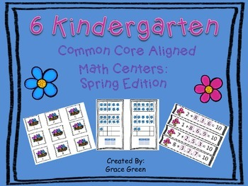 Kindergarten Spring Math Stations