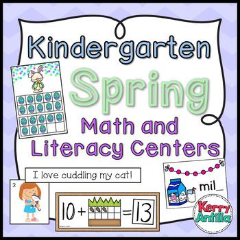Kindergarten Spring Math and Literacy Centers