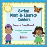 Kindergarten Spring FREEBIE + Math & Literacy Centers