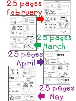 Kindergarten Spring Morning Work (100 pages)