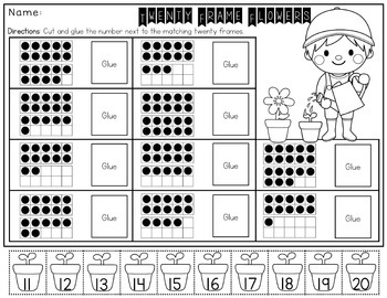 Kindergarten Spring No Prep Activity Pack