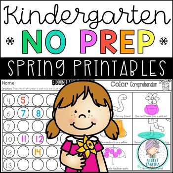 Kindergarten April No Prep