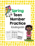 Kindergarten Spring Teen Number Counting Practice {Distance Learning}