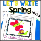 No Prep! Kindergarten Spring Writing - Journal - Writing Workshop - Center