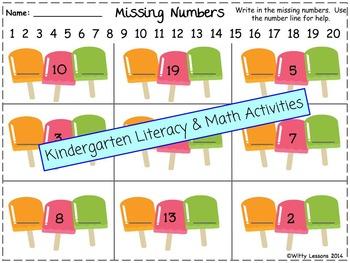 Kindergarten Spring and Summer Packet