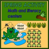 Kindergarten Spring theme-Frogs and lilypads