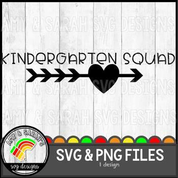 Kindergarten Squad SVG Design