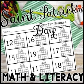 Kindergarten St. Patrick's Day Activities - Math and Literacy - NO PREP