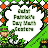 Kindergarten St. Patrick's Day Math Centers -- March Math Centers