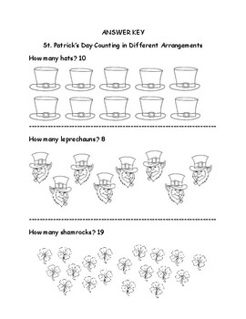 Kindergarten St. Patrick's Day Math for Common Core