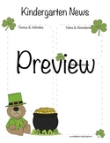 Kindergarten St Patrick's Day, March Newsletter