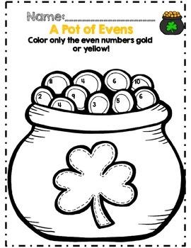 Kindergarten St. Patrick's Day Math & ELA Activity Set *No Prep*