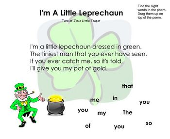 Kindergarten St. Patrick's Day Smartboard Activities