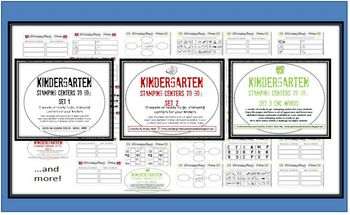 Kindergarten Stamping Centers Bundle-Ready to Go for the Entire Year
