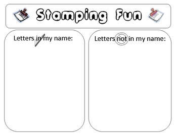 Kindergarten Stamping Centers Ready To Go Literacy Centers:  Set 1