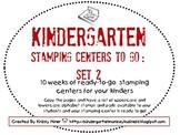 Kindergarten Stamping Centers Set 2