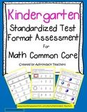 """Kindergarten """"Standardized Test Format"""" Math Assessment Co"""