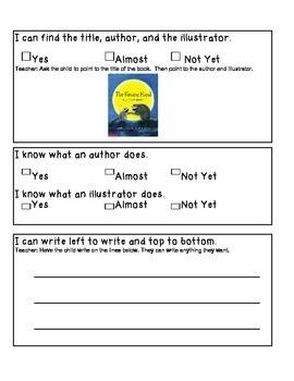 Kindergarten Standards Based Assessment - Beginning of Year