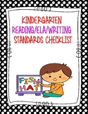 Kindergarten Standards Checklists