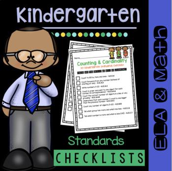 Kindergarten Standards Checklists - Common Core - Math and ELA