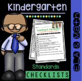 Kindergarten Standards Checklists - Common Core - Math and ELA