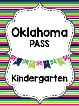 Editable Oklahoma PASS Standards {Kindergarten}