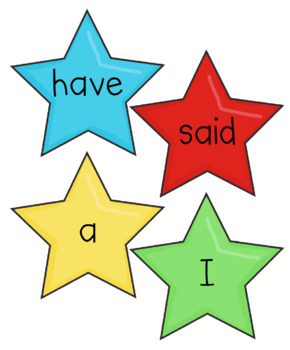 Kindergarten Star Words