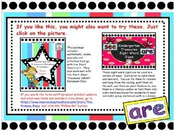 Kindergarten Start Smart Treasures Reading SMART Notebook File