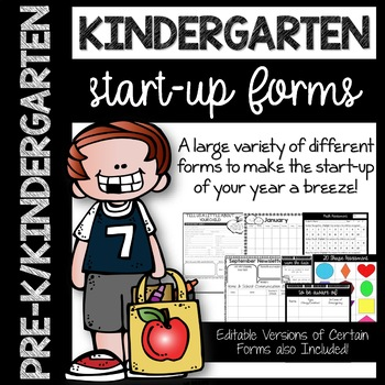 Kindergarten Start-Up Forms