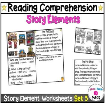 Kindergarten Story Element Worksheets- Set 5