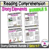 Kindergarten Story Element Worksheets Bundle 2 - Sets 4-7