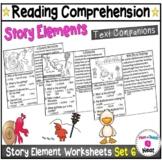 Kindergarten Story Element Worksheets- Set 6 Text Companions