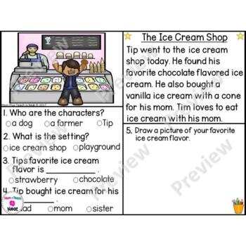 Kindergarten Story Element Worksheets- Set 7