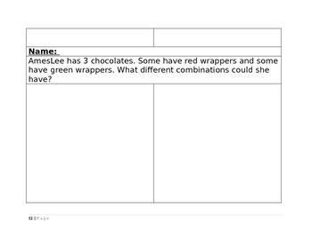 Kindergarten Story Problem Packet 1