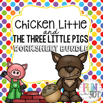 Kindergarten Story Time Bundle! The Three Little Pigs and Chicken Little!