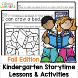 Kindergarten Library Lessons and Activities Fall