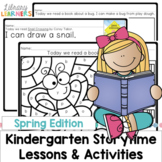 Kindergarten Library Lessons and Activities Spring