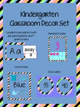 Kindergarten Striped Decor Set