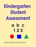Kindergarten Student Assessment