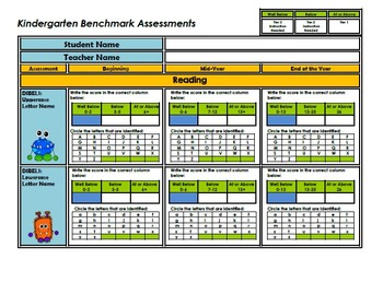 Kindergarten Student Benchmark Assessment Packet