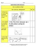 Kindergarten Student-Friendly Opinion Writing Checklist