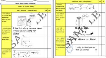 Kindergarten Student-Friendly Writing Checklists BUNDLE