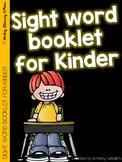 Sight Word Booklet for Kindergarten