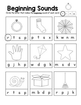 Kindergarten Sub Packet- No Prep!