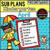 Kindergarten Sub Plans (April-Spring)