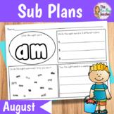 Sub Plans Kindergarten August
