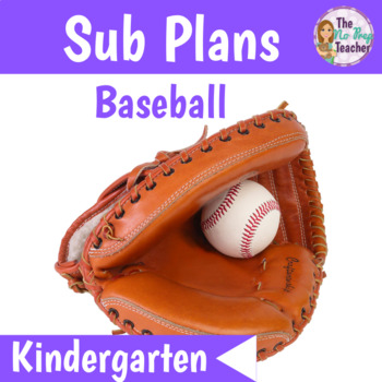 Kindergarten Sub Plans Baseball Theme